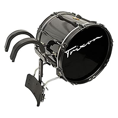 "Trixon Field Series Pro Marching Bass Drum 18"" x 14"" - Black Polish by Trixon Drums"