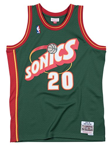Seattle Supersonics Fan - Outerstuff Youth Gary Payton Seattle Supersonics Green Hardwood Classic Jersey (Youth Large (14-16))