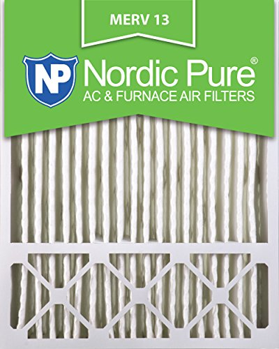Nordic Pure 20x25x5 (4-3/8 Actual Depth) Lennox X6673_X6675 Replacement MERV 13 Pleated AC Furnace Air Filter, Box of 4 by Nordic Pure