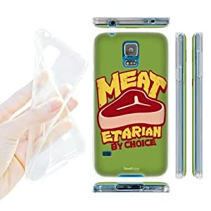 DIY Case Designs Meatetarian Food Experts Soft Gel Back Case Cover for Samsung Galaxy S5 by ruishername