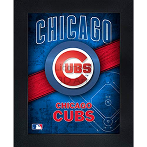 (Chicago Cubs 3D Poster Wall Art Decor Framed Print | 14.5x18.5 | Lenticular Posters & Pictures | Memorabilia Gifts for Guys & Girls Bedroom | MLB Baseball Sports Team Fan Poster for Man Cave)
