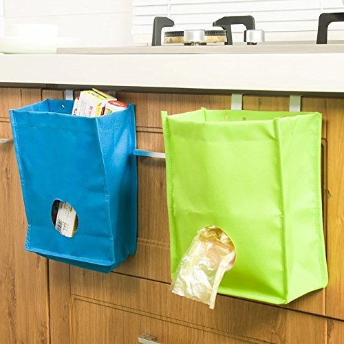 Lovetosell123 Multifunction Hanging Storage Bag For Garbage pouch Gloves Sock Kitchen Familly Organization Home Accessories Supplies (Color : Beige) by Lovetosell123 (Image #2)