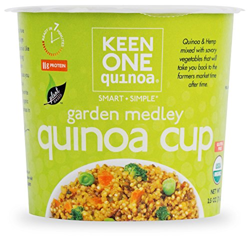 Keen One Quinoa Garden Medley - Royal Organic Quinoa with Hemp and Savory Vegetables {Pack of 6 Cups}