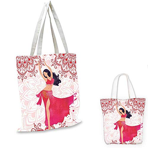 Unique Gifts for Men shopping tote bag Oriental Belly Dancer Dance Costumes Mandala Bohemian Adult Ornaments Fanciful Home Wall travel shopping bag Fuchsia Red Pink White. 16