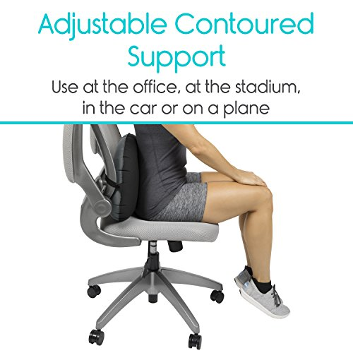 inflatable lumbar support cushion by vive posture correcting