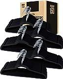 Utopia Home [150 Pack] Premium Non Slip Velvet Hangers - Heavy Duty - Coat Suit Hangers - Black