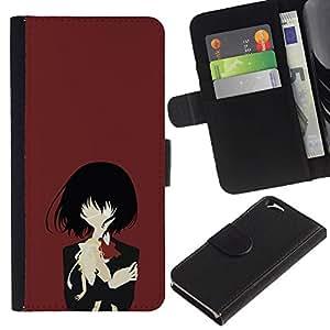JackGot ( Una Eyed Girl ) Apple (4.7 inches!!!) iPhone 6 / 6S la tarjeta de Crédito Slots PU Funda de cuero Monedero caso cubierta de piel