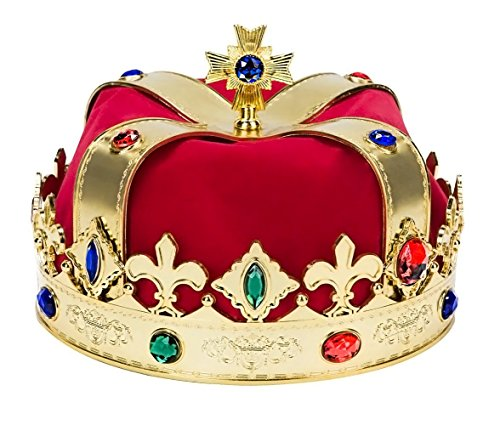 Kangaroo Regal King Crown Red and Gold]()