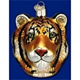 "Old World Christmas ""Tiger Head Glass Holiday Ornament #12234"