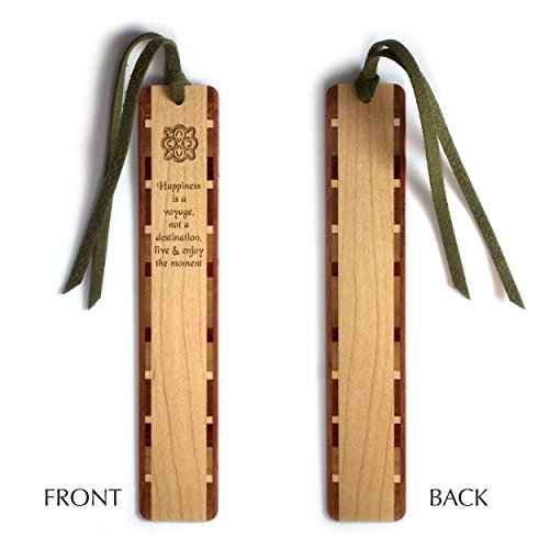 happiness-quote-voyage-destination-engraved-wooden-bookmark-on-maple-with-tassel