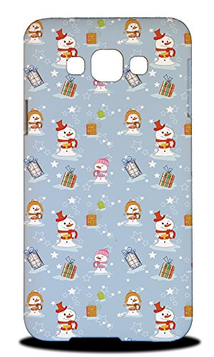 Foxercase Designs Christmas Snowman Pattern 2 Hard Back Case Cover For Samsung Galaxy E7