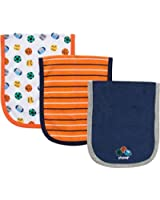 Gerber Terry Burp Cloths for Boys - Set of 3