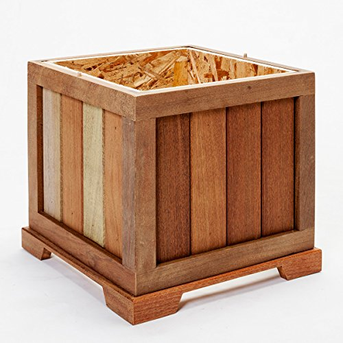 Terra Flame 700953164551 Cape Cod Collection Lantern, Teak Wood