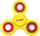 Spinner Fidget Stress Reducer Premium Hybrid Ceramic Bearing 15 Colors for Kids & Adults by ZTOZZ (Yellow + Red)