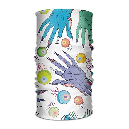 HomeDailyLife Magic Headwear Eyeball Zombie Hand Outdoor Scarf Headbands Bandana Mask Neck Gaiter Head Wrap Mask Sweatband -