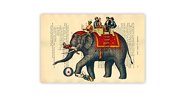 Amazon Com Circus Elephant Wall Decor Zoo Animal Artwork Decorations Jumbo Art Print Handmade This being the true story of the greatest elephant in the world by paul chambers. circus elephant wall decor zoo animal