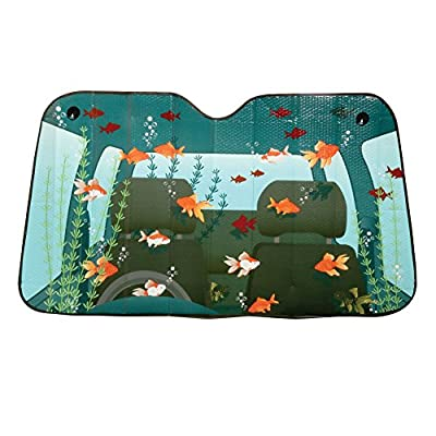 Comical Car Windshield Sun Shades - Fish Tank