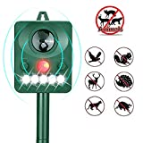 SONYANG Solar Animal Repeller, Waterproof Outdoor Animal Repellent with Motion Sensor and Flashing
