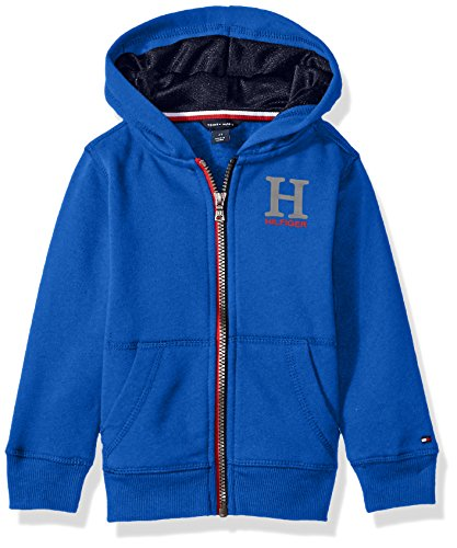 Tommy Hilfiger Boys' Matt Logo Hilfiger Hoody, Olympic Blue, 4 (Tommy Hilfiger Boy 4)