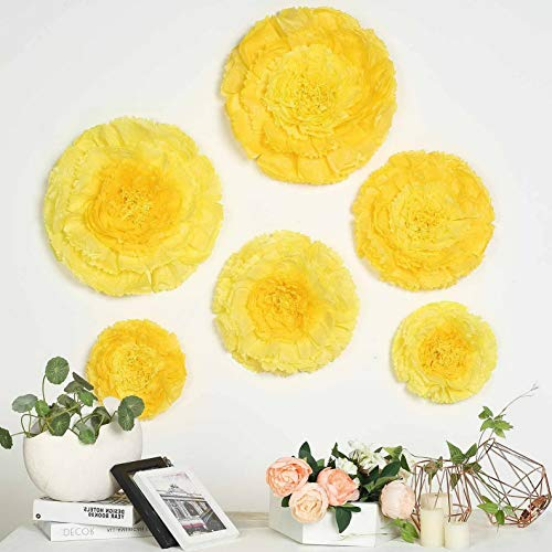 Mikash 12 16 20 in Paper Carnations Flowers Wall Backdrop Party Wedding Decorations | Model WDDNGDCRTN - 7582 | 6 pcs