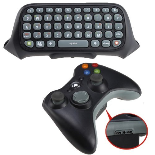 Text Messenging Wired Keyboard ChatPad and Wireless Remote Controller for Xbox 360