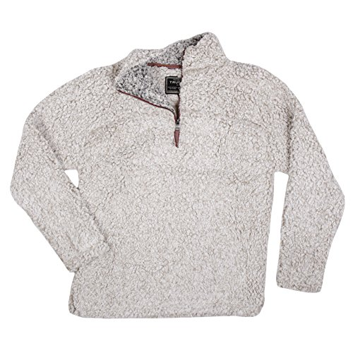 True Grit Men's Frosty Tipped Pile 1/4 Zip Pullover, Putty, Medium by True Grit