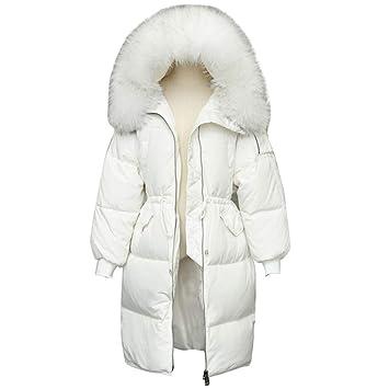 size 40 eb3ce 3cc6b LQYRF Winter-Damen-Lange Hülsen-Reißverschluss-weiße ...