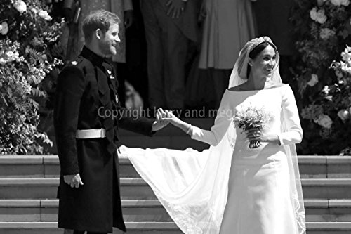 (Prince Harry Photograph a Photographic Print of Prince Harry and Meghan Markle royal wedding at Windsor Castle Berkshire England United Kingdom landscape photo b/w picture fine art print (9