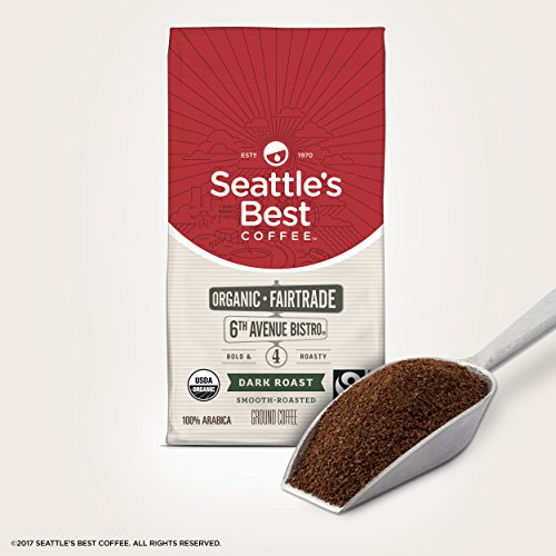 Seattle's Best Coffee 6th Avenue Bistro Fair Trade Organic Dark Roast Ground Coffee, 12-Ounce Bag