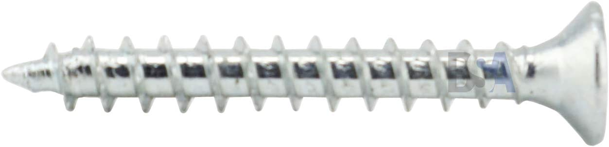 50 Viti 6 x 20 mm Tutto Filetto IROX Acciaio Zincato Testa Croce Pozidriv PZD Piana Svasata Vite per Legno e truciolare 6x20 truciolari