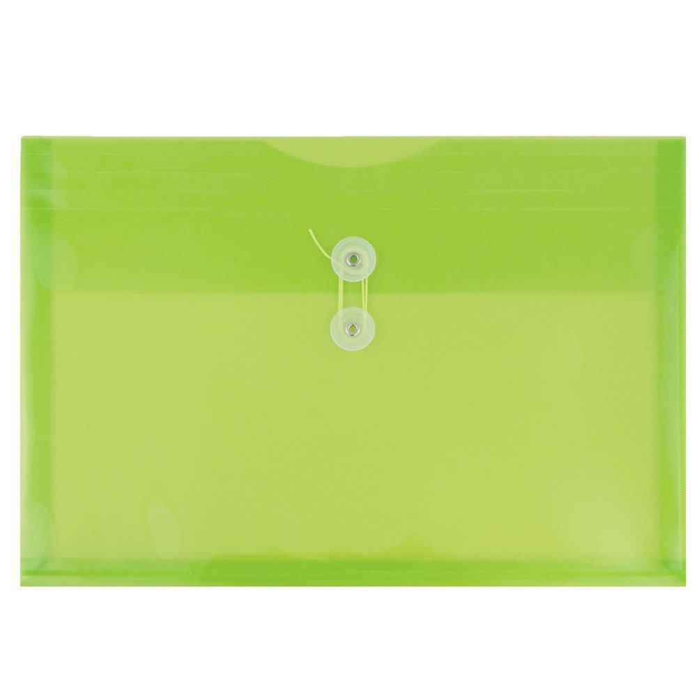 JAM Paper® Plastica Busta con Button e Laccio di Chiusura - Opuscolo di Grandi Dimensioni - 247, 6 x 31, 8 x 368, 3 mm - Colori Primari Assortiti - 6/pacco JAM Paper & Envelope FBA_219b1rligbyorcl