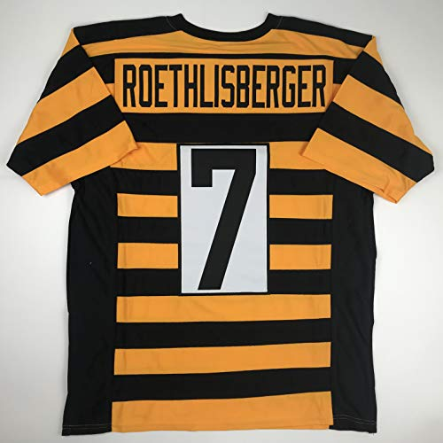 Ben Roethlisberger Authentic Jersey - Unsigned Ben Roethlisberger Pittsburgh Bumble Bee Custom Stitched Football Jersey Size Men's XL New No Brands/Logos