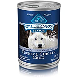 BLUE Wilderness Senior Grain-Free Turkey & Chicken Grill Wet Dog Food 12.5-oz (pack of 12)