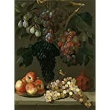 high quality polyster Canvas ,the Cheap but High quality Art Decorative Art Decorative Prints on Canvas of oil painting 'Espinosa Juan de Bodegon de uvas manzanas y ciruelas Ca. 1630 ', 16 x 22 inch / 41 x 55 cm is best for Powder Room gallery art and Home gallery art and Gifts