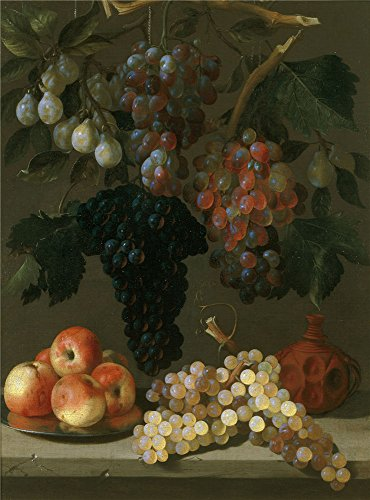 Oil Painting 'Espinosa Juan De Bodegon De Uvas Manzanas Y Ciruelas Ca. 1630 ' Printing On High Quality Polyster Canvas , 12 X 16 Inch / 30 X 41 Cm (Manzana Apple Halloween)