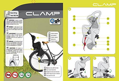 Bellelli Mr. Fox Baby Carrier Child Bike Seat - Standard Multifix Anchor System, Yellow - 50lbs. by Bellelli (Image #4)