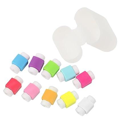 Dolity 10x Protectores de Cables con Cubierta de Auriculares para Apple Airpods de Color Transparente