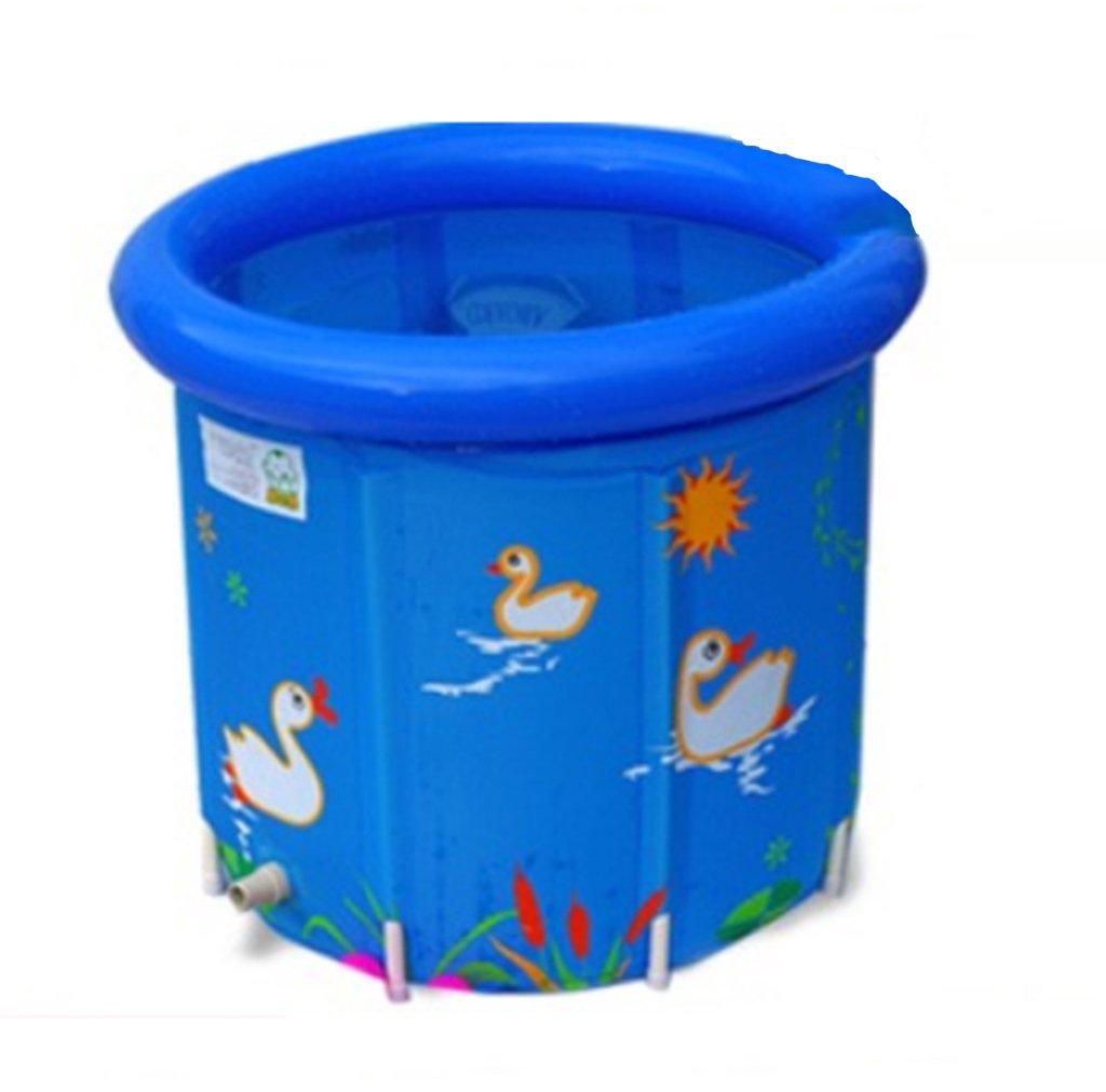 JPYG Inflatable Bathtub,Child Collapsible Bathbarrel Household Keepwarm Plastic Bathtub Portable (Color : #2)