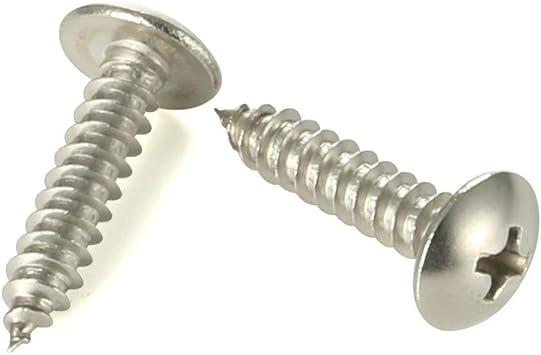 Stainless Steel 500 Pcs self Tapping Metal Screws self Tapping Screws for Metal #4 x 1//2 Phillips Flat Head Sheet Metal Screws