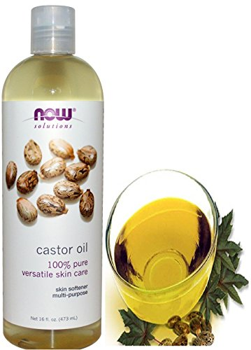 - Now Foods Solutions Castor Oil Pure Organic Cold Pressed for Hair Treatment Eyelashes Growth Skin Care Moisturizer 16 fl oz 473 ml