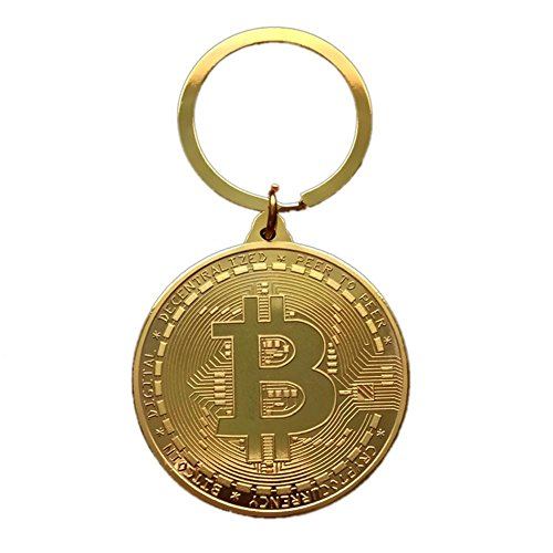 Coin Quick (Fancystar Gold Plated Bitcoin Coin Key Ring Key Chain BTC Coin Art Collection Durable Quick Release Detachable Key Rings Stainless Steel Key Fob Belt Bag Clip Loop Hook)
