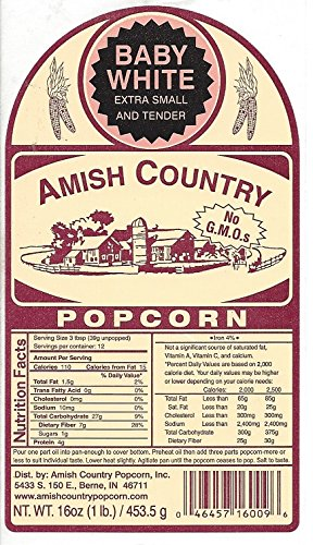Amish Country Popcorn - 50 Pound Baby White - Small & Tender Popcorn - Perfect for Fundraisers - Non GMO, Gluten Free, Microwaveable, Stovetop and Air Popper Friendly With Recipe Guide by Amish Country Popcorn (Image #4)