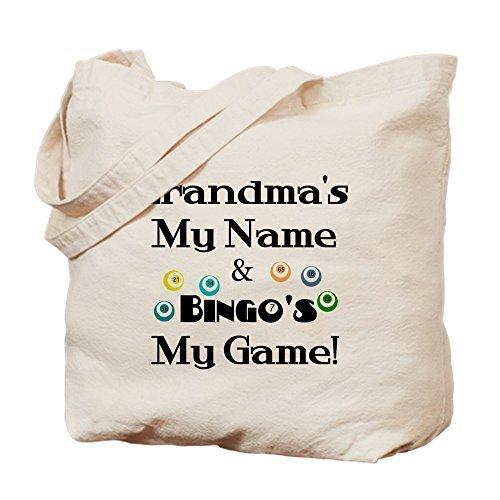 Grandma And Bingo Canvas Tote Bag Reusable Ecofriendly Shopping Bag Washable Tote Bags for Women