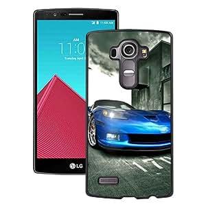 Fashionable And Unique Designed Case For LG G4 Phone Case With Blue Corvette Black
