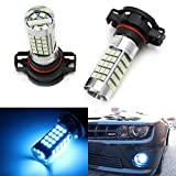 iJDMTOY (2) 10000K Ice Blue 69-SMD 5202 2504 PSX24W LED Bulbs For Daytime Running Lights or Fog Light Replacements