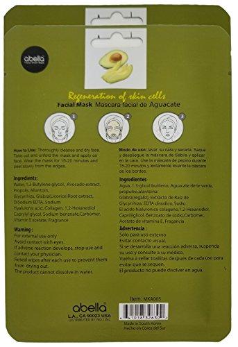 Amazon.com : Abella Cosmetic Essence Facial Mask Paper Sheet Korea Skin Care Moisturizing - 2 Pack, Avocado : Beauty