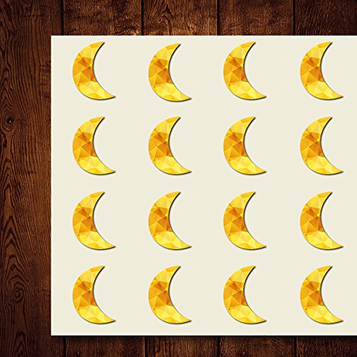 Moon Crescent Craft Stickers, 44 Stickers at 1.5 Inches, Great Shapes for Scrapbook, Party, Seals, DIY Projects, Item 1321485