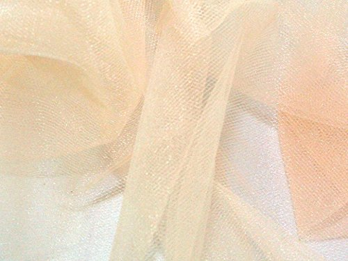 Soft Tulle Net Fabric Champagne - per metre