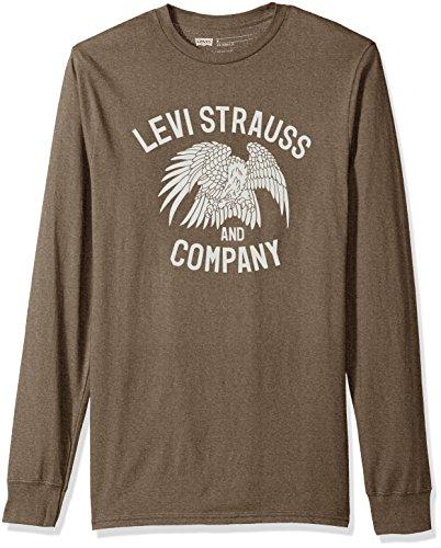Levi's Men's Forte Long Sleeve T-Shirt, Brown Heather, (Levis Long Sleeve Tee)