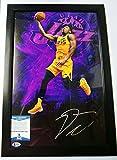 #8: Utah Jazz Slam Dunk Donovan Mitchell Signed Autograph 12X18 Framed Photo - Beckett Certified